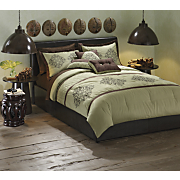 Bedding and Window Treatments Wood Emerald Collection