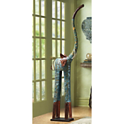 Elephant Tall Metal Blue