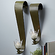 Set of 2 Ribbon Sconces