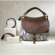 sydney snakeprint multi strap bag