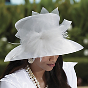 Hat Satin Feather