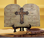 10 Commandments Plaque with Easel A