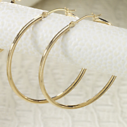 Hoops, 10K Yellow Gold Large Round