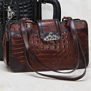 Toulon Embossed Leather Handbag