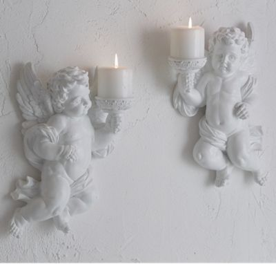 White Cherub Pair