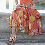 Tropical Picnic Tiered Skirt
