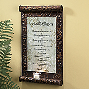 10 Commandments Candle Plaque