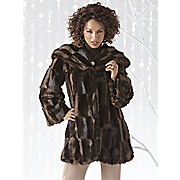 Mink Faux Fur Hooded Jacket