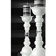 Small White Glass Candleholder