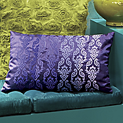 Purple Embroidered Pillow