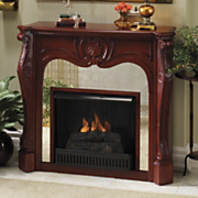 Mirrored Fireplace Mantel