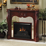 Mirrored Fireplace Mantel And Inserts