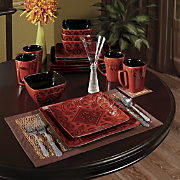 16 piece Medallion Scroll Dinnerware Set