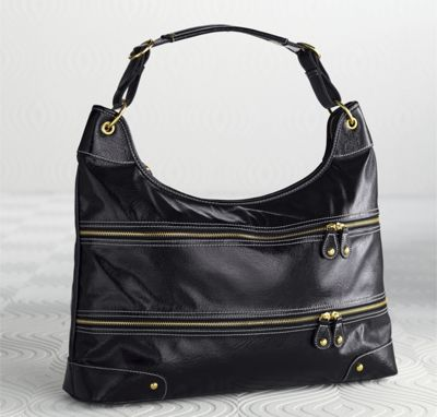 Zipper Front Hobo
