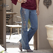 Embellished Plus-Size Jeans