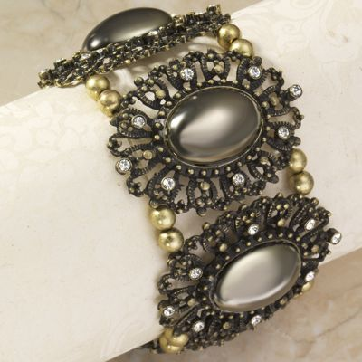 Burnished Medallion Bracelet