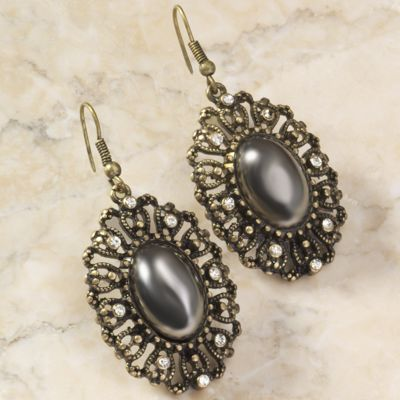 Burnished Medallion Earrings