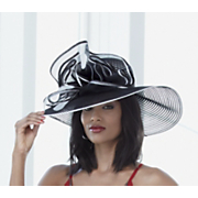 swinger hat with pouff feathers