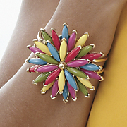 beaded sunburst bangle
