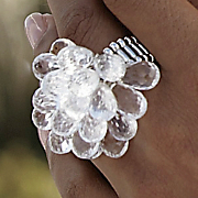 Ring, Briol/Acrylic Cluster