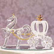 Glass Horse And Carriage