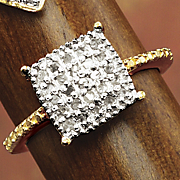 diamond square cluster ring