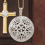 diamond medallion pendant
