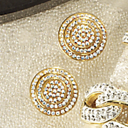 swarovski crystal micro pave round cluster post earrings