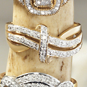 postpaid 10k gold diamond ribbon ring