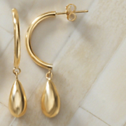 teardrop post earrings