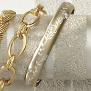 diamond cut flex bangle