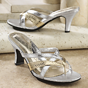 metallic sandal by midnight velvet