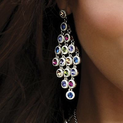 Crystal Circle Chandellier Earrings