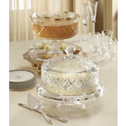 4 in 1 crystal footed cake dome