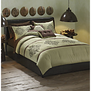 Bedding Set Wood Emerald Collection 7 Piece