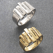 Fam Name Bar Ring