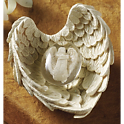Hope Angel Worry Stone W Wing Holder