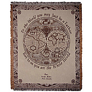 Father World Personalized Throw