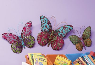 3 Piece Butterfly Wall Art Set