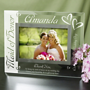 Maid Of Honor Glass Picture Frame