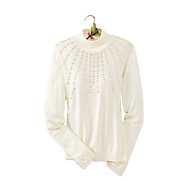Pearl Trim Sweater