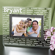 Family Name Glass Picture Frame