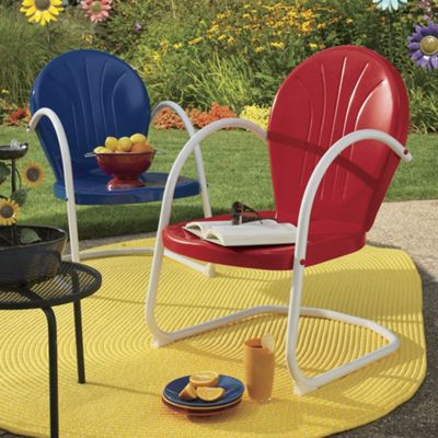 Retro Metal Lawn Chair