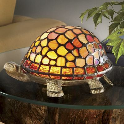 Stained Glass Turtle Lamp