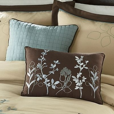 Set Of 2 Embroidered Silhouette Decorative Pillows