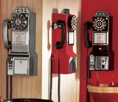 Retro Phone and Bank