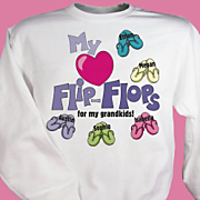 My Heart Flip Flops For My Sweatshirt