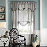 Tonal Stripe Sheer Window Treatments