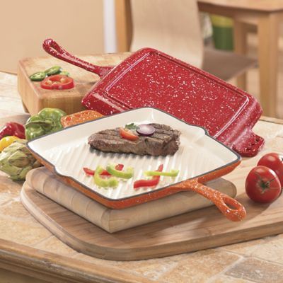 Square Grill 11 Inch Speckled Enamel