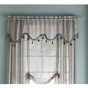 Tonal Stripe Sheer Valance